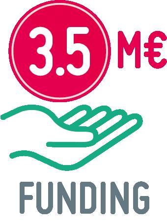 3.5 million € funding icon