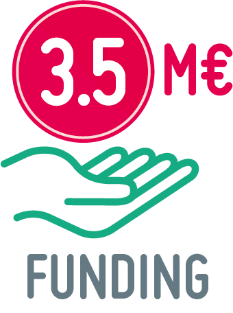 3.5 million € funding icon