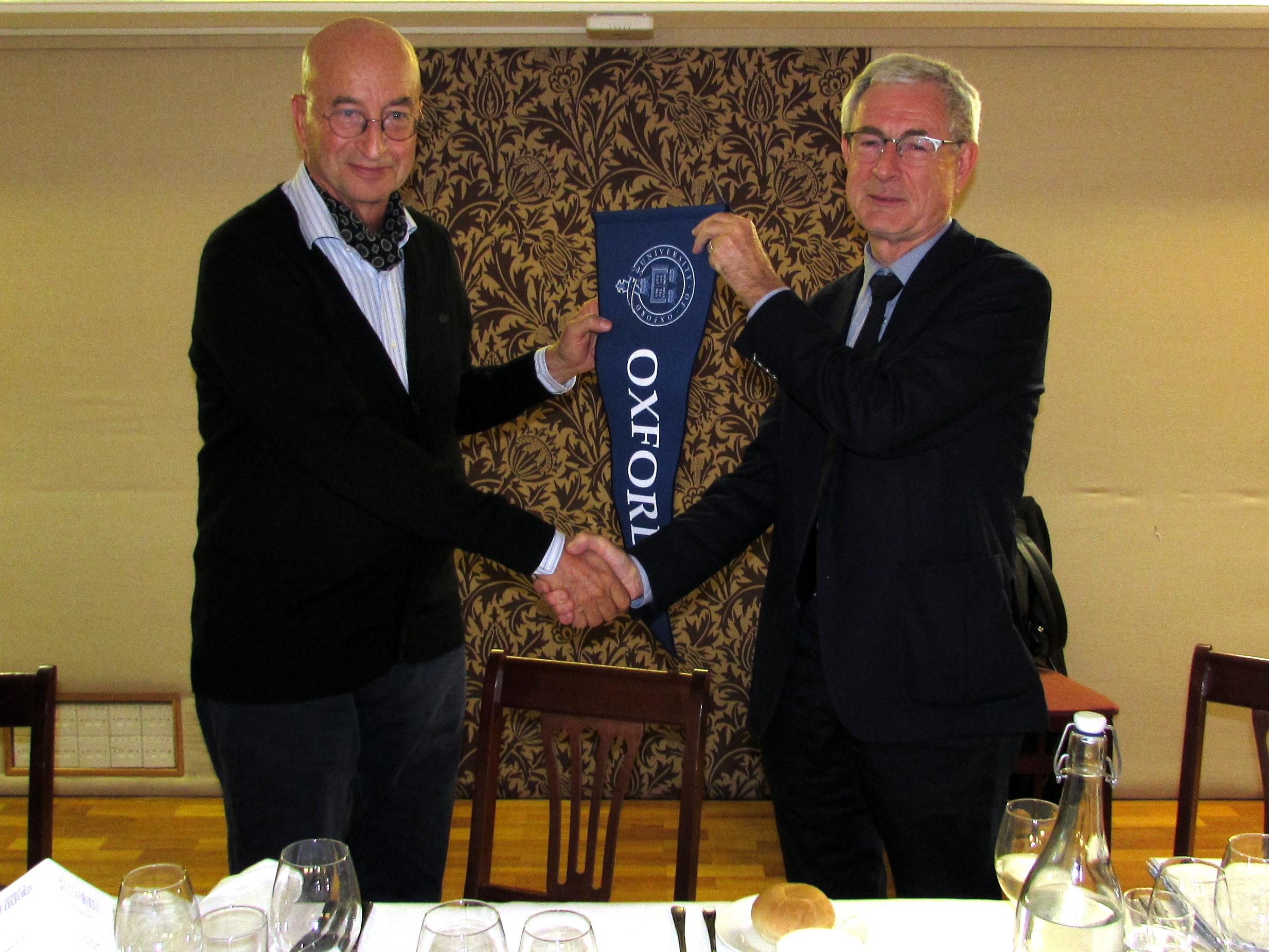 Prof Vittorio Colizzi and Professor Alastair Buchan STARBIOS2