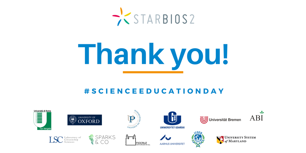 Celebrating IWD 2018 and Science Education Day in STARBIOS2 - STARBIOS2